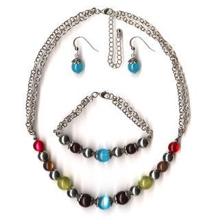 Covington Women's Beaded Necklace, Bracelet & Earrings