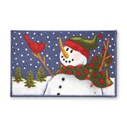 Essential Home Winter Accent Rug - Snowman & Cardinal at Kmart.com