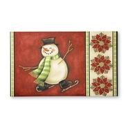 Essential Home Ice Skating Snowman & Poinsettia Holiday Doormat at Kmart.com