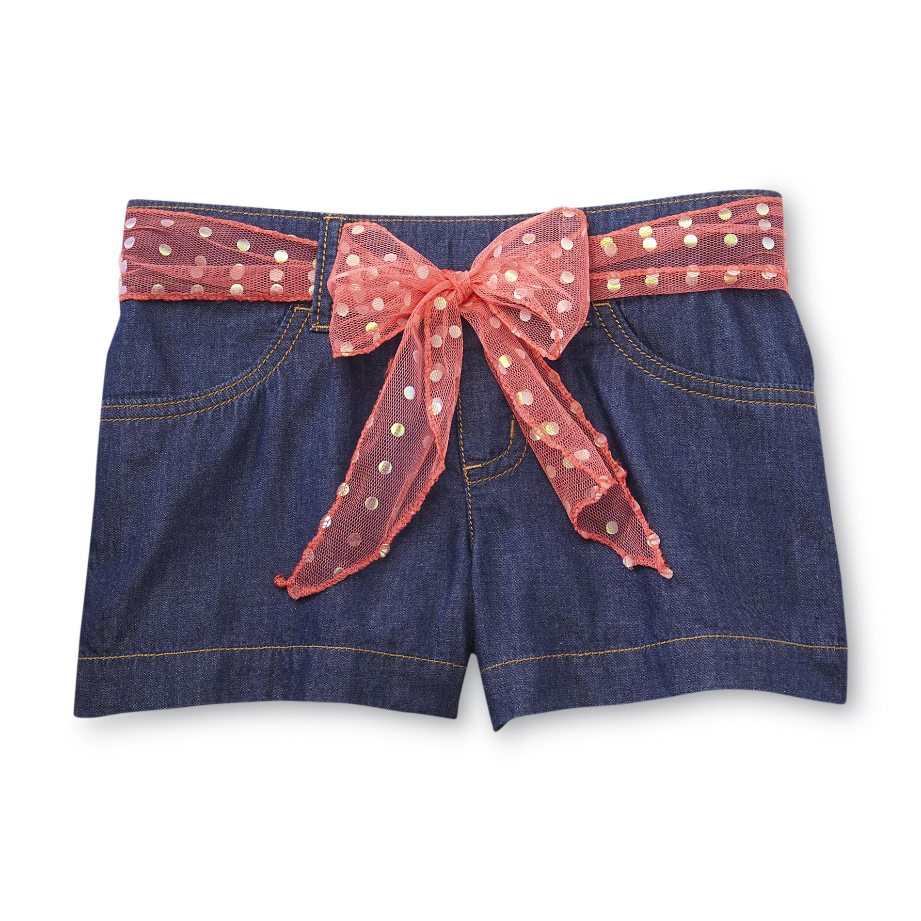 Basic Editions Girl's Denim Shorts & Belt at Kmart.com