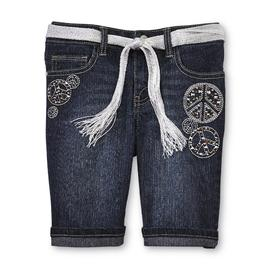 Route 66 Girl's Denim Shorts & Belt - Peace Signs at Kmart.com