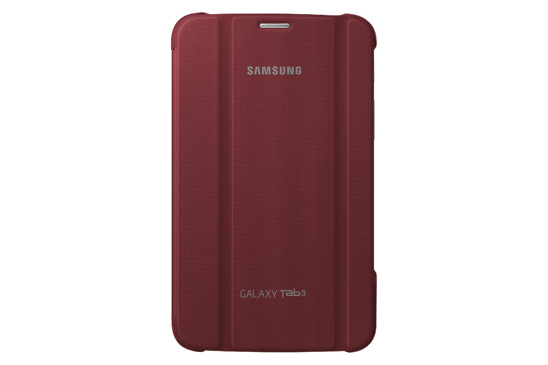 Samsung Galaxy Tab 3 7in Book Cover - Garnet Red PartNumber: 00343284000P KsnValue: 00343284000 MfgPartNumber: EF-BT210BREGUJ
