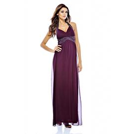 AX Paris Women's Halter Neck Jewelled Maxi Purple Dress at Kmart.com