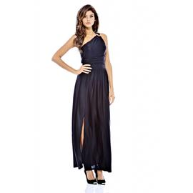 AX Paris Women's One Shoulder Split Maxi Black Dress at Kmart.com
