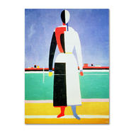 Trademark Fine Art Kazimir Malevich 'Woman With Rake' Canvas Art at Kmart.com