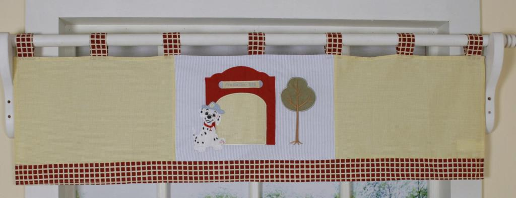 Baby Boy Fire Truck Window Valance