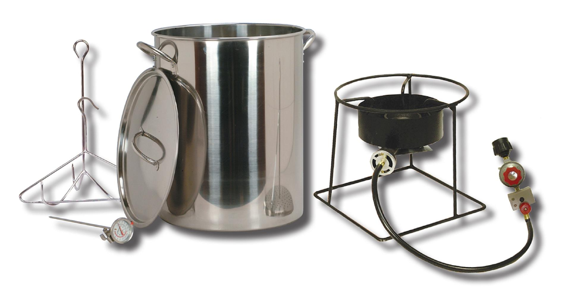 Outdoor Turkey Fryer with 29 Qt. Stainless