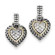 goldia Antique Style Sterling Silver with 14k Gold 1/4ct. Diamond Earrings at Sears.com