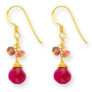 goldia Sterling Silver & Vermeil Ruby Earrings at Kmart.com