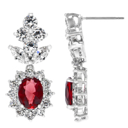 Emitations Camilla's Fancy Cluster CZ Drop Earrings - Ruby - Final Sale at Kmart.com