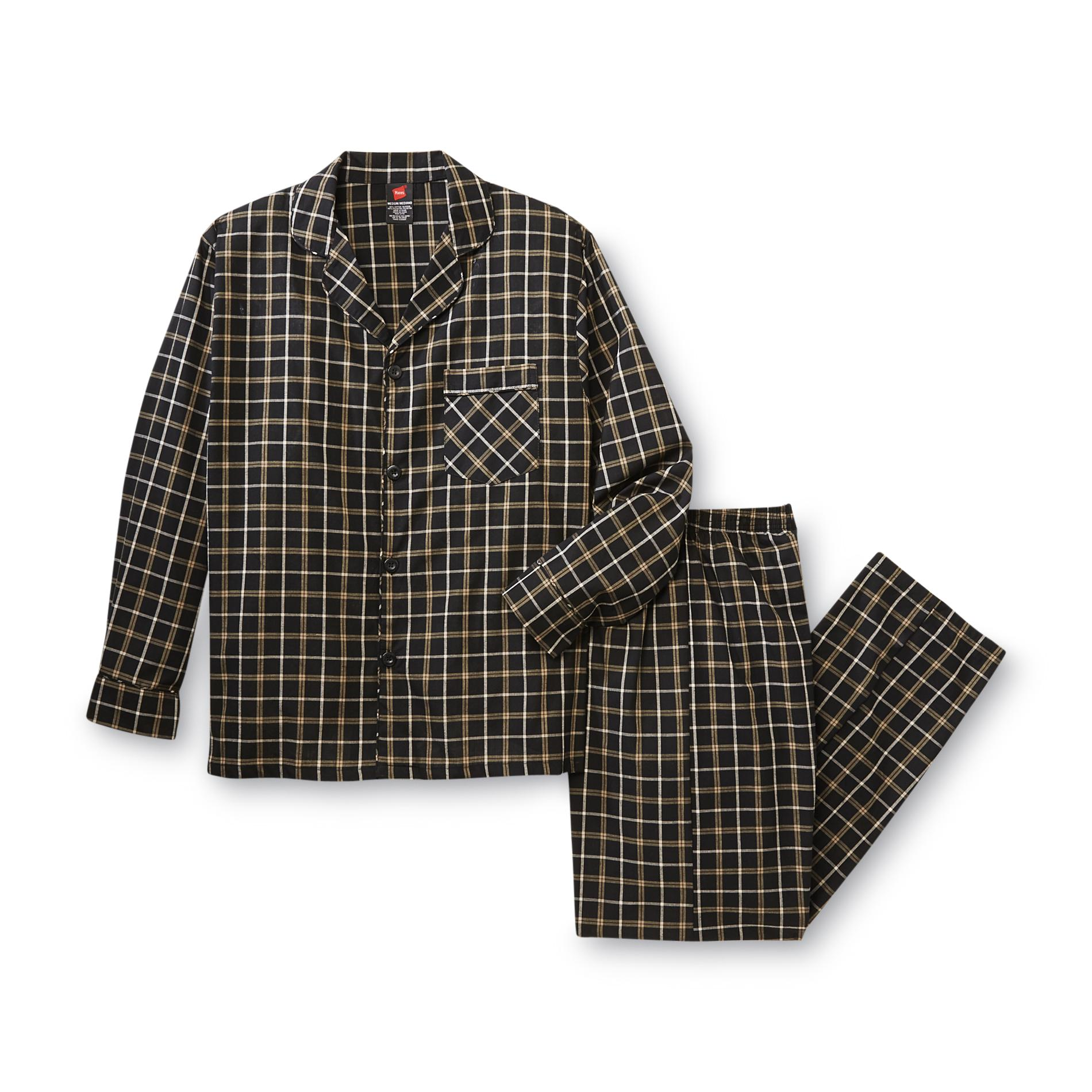 Men's Big & Tall Pajama Shirt & Pants - Plaid