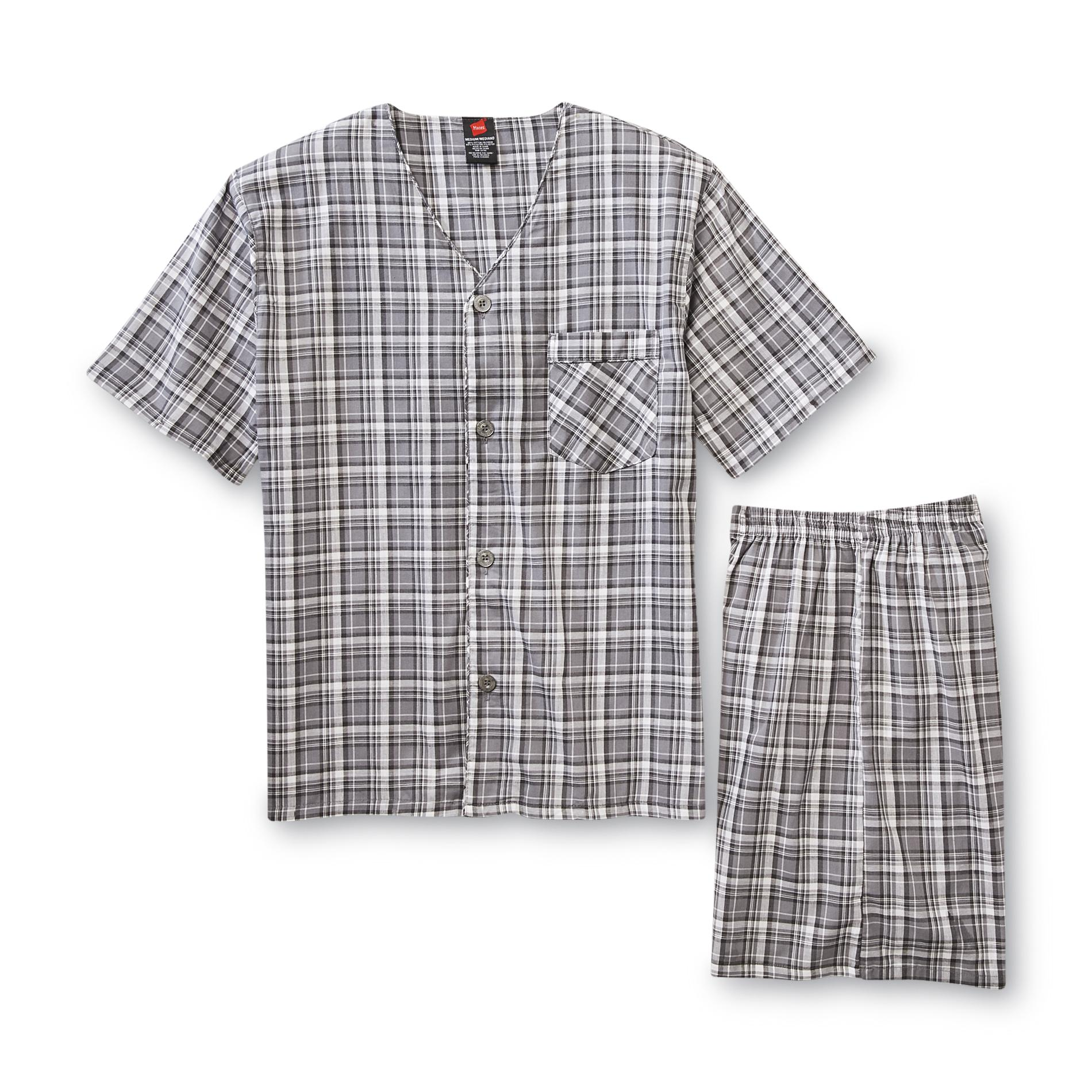 Hanes Men's Pajama Shirt & Pants - Plaid