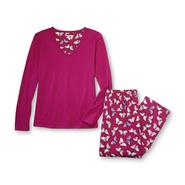 Laura Scott Women's Pajama Shirt & Pants - Butterfly Print at Sears.com