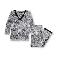 Covington Women's Pajama Shirt & Pants - Animal Print at Sears.com