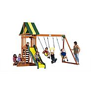 backyard discovery prestige wooden swingset at