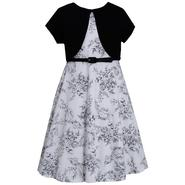 Ashley Ann Girl's Dress, Short-Sleeve Shrug & Belt - Floral at Sears.com