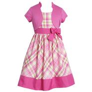 Ashley Ann Girl's Dress & Short-Sleeve Shrug - Plaid at Sears.com