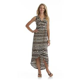 Jaclyn Smith Women's High-Low Maxi Dress - Cheetah Print at Kmart.com