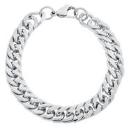 Beveled Chain Bracelet in Stainless Steel at Kmart.com