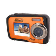 Coleman Duo 14 Megapixel Waterproof Digital Camera with Dual LCD Screen (Orange) at Kmart.com