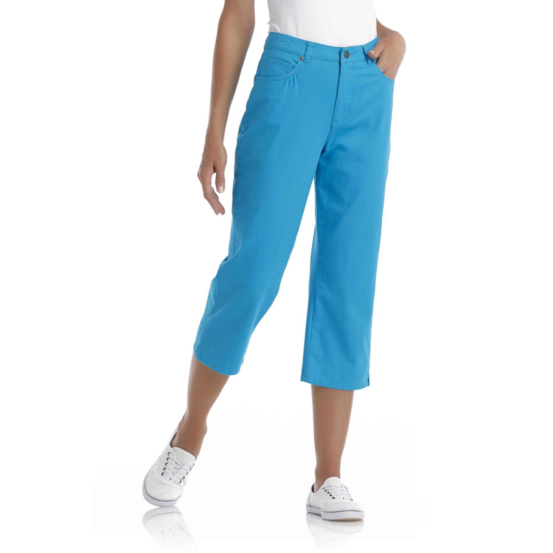 Women's Stretch Khaki Capri Pants