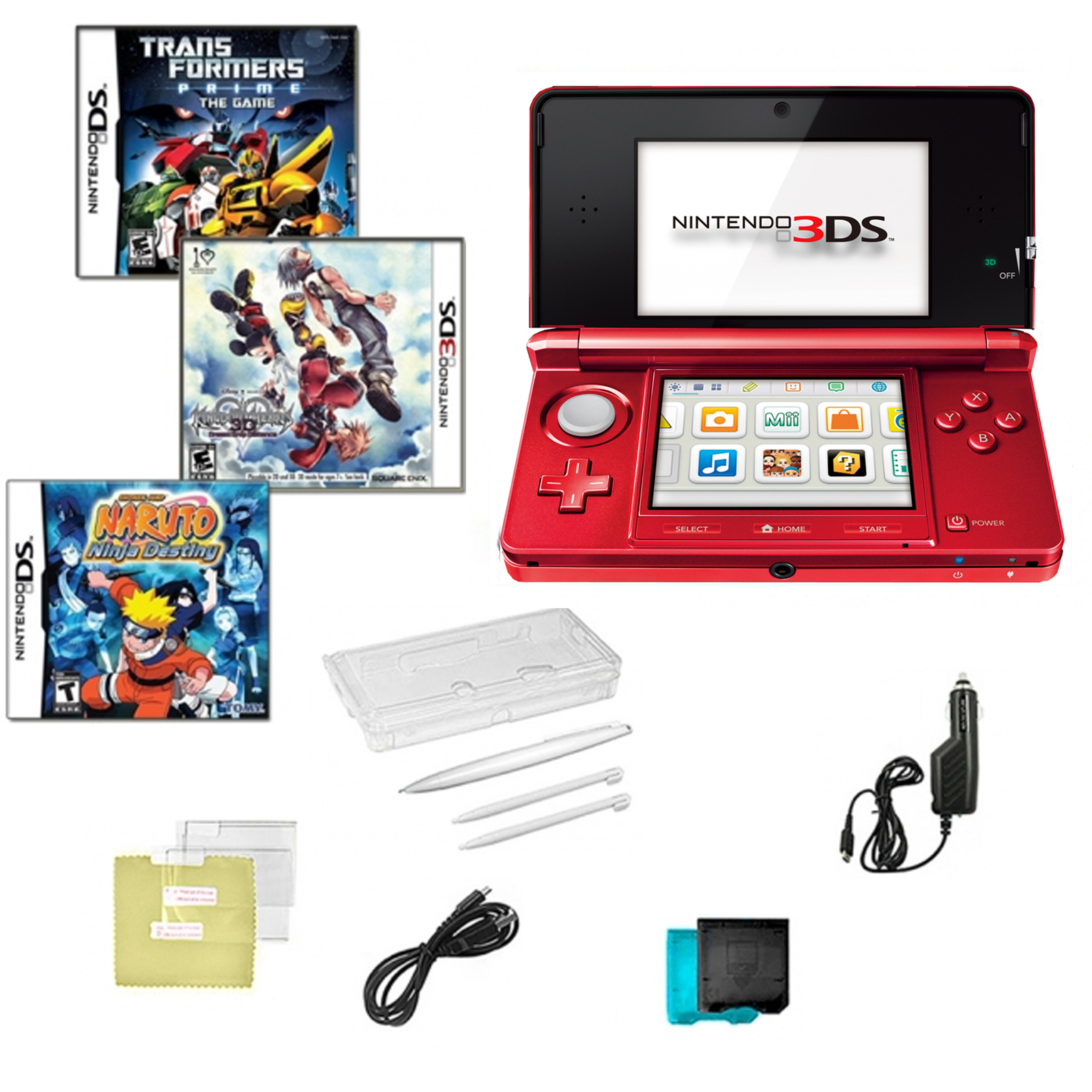 3DS Red with Transformers Prime, Kingdom