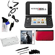 Nintendo 3DS XL Red with Batman Arkham Origins Blackgate and 17 in 1 Accessoris Kit Bundle at Kmart.com