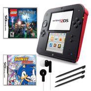 Nintendo 2DS Red Bundle with 2 Games and Accessories at Kmart.com