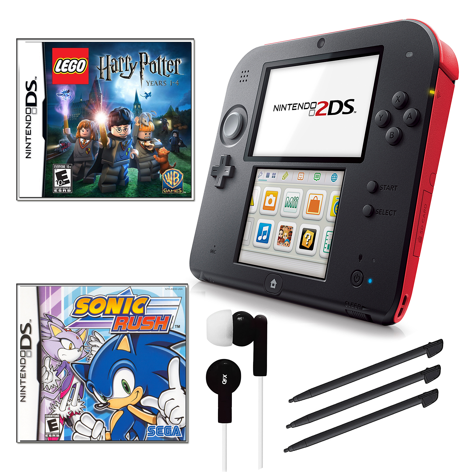 Nintendo  2DS Red Bundle with 2 Games