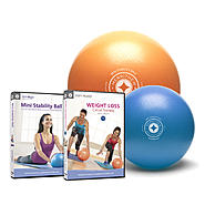 Stott Pilates Mini Stability Ball 2-Pack with DVD's at Kmart.com