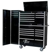 "Extreme Tools � 41"" 11 Drawer Roller Cabinet, 8 Drawer Tool Chest & 16"" Side Cabinet in Black at Sears.com"