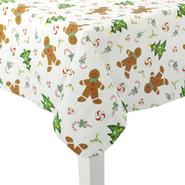 Christmas Vinyl Tablecloth - Gingerbread at Sears.com