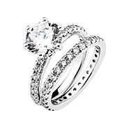 DIAMONBLISS Sterling Silver Cubic Zirconia Bridal Set Rings at Sears.com