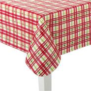 Christmas Vinyl Tablecloth - Plaid at Sears.com