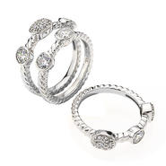 DIAMONBLISS Sterling Silver Cubic Zirconia Round Cut Stackable Rings at Sears.com