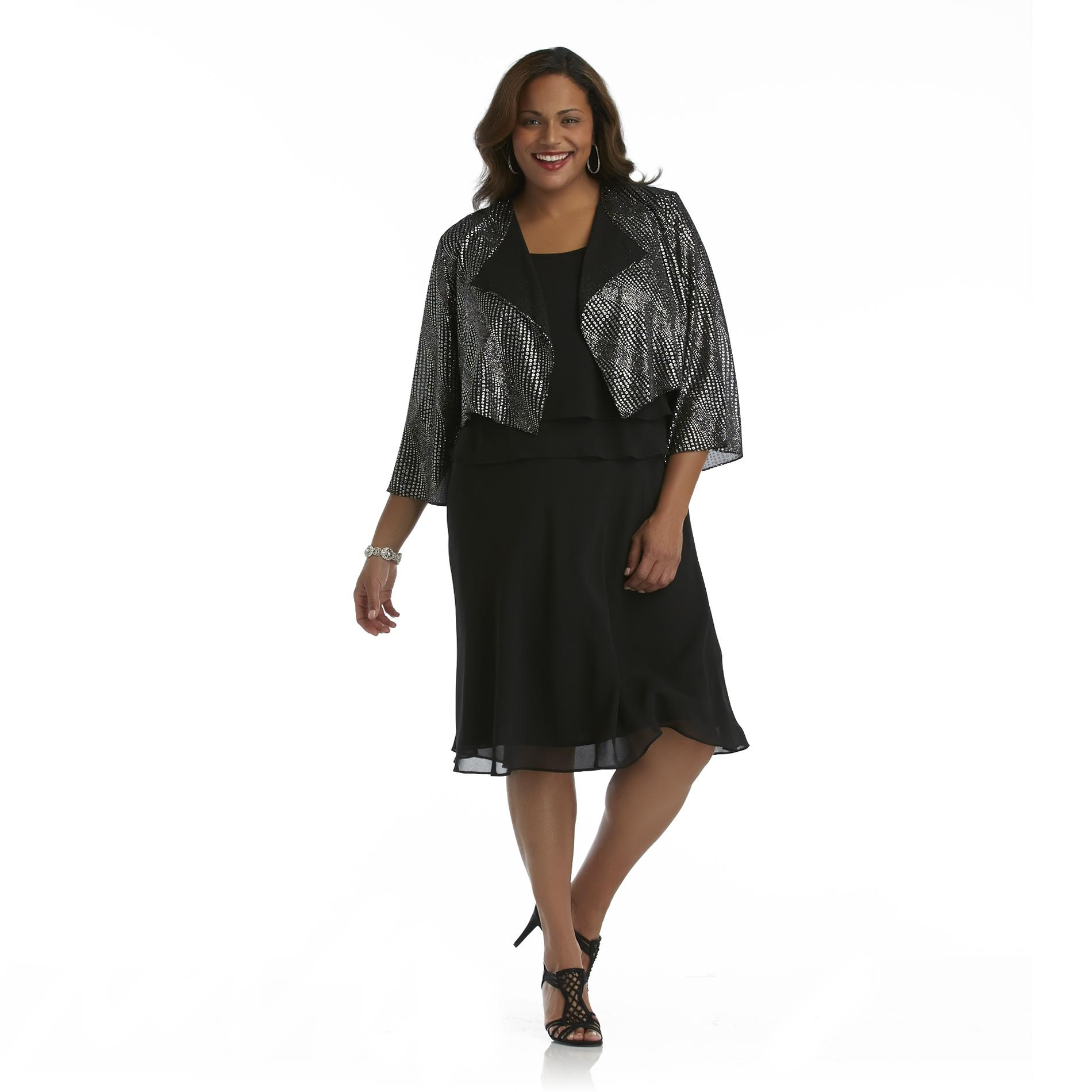 Darian Group Women's Plus Layered Dress at Sears.com