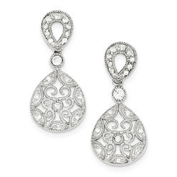 goldia Sterling Silver CZ Antique Style Earrings at Kmart.com