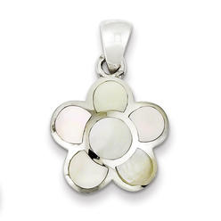 goldia Sterling Silver Mother of Pearl Flower Pendant at Kmart.com