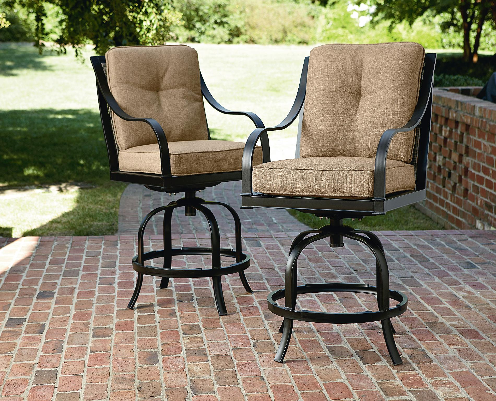 La-Z-Boy Outdoor  Charlotte 2Pk Bar Stools