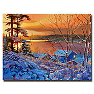 Trademark Fine Art David Lloyd Glover 'Winter Day Begins' Canvas Art at Sears.com