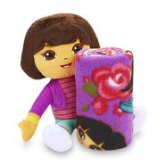 Nickelodeon 2-Piece Dora the Explorer Fleece Throw and Pillow Set at Kmart.com