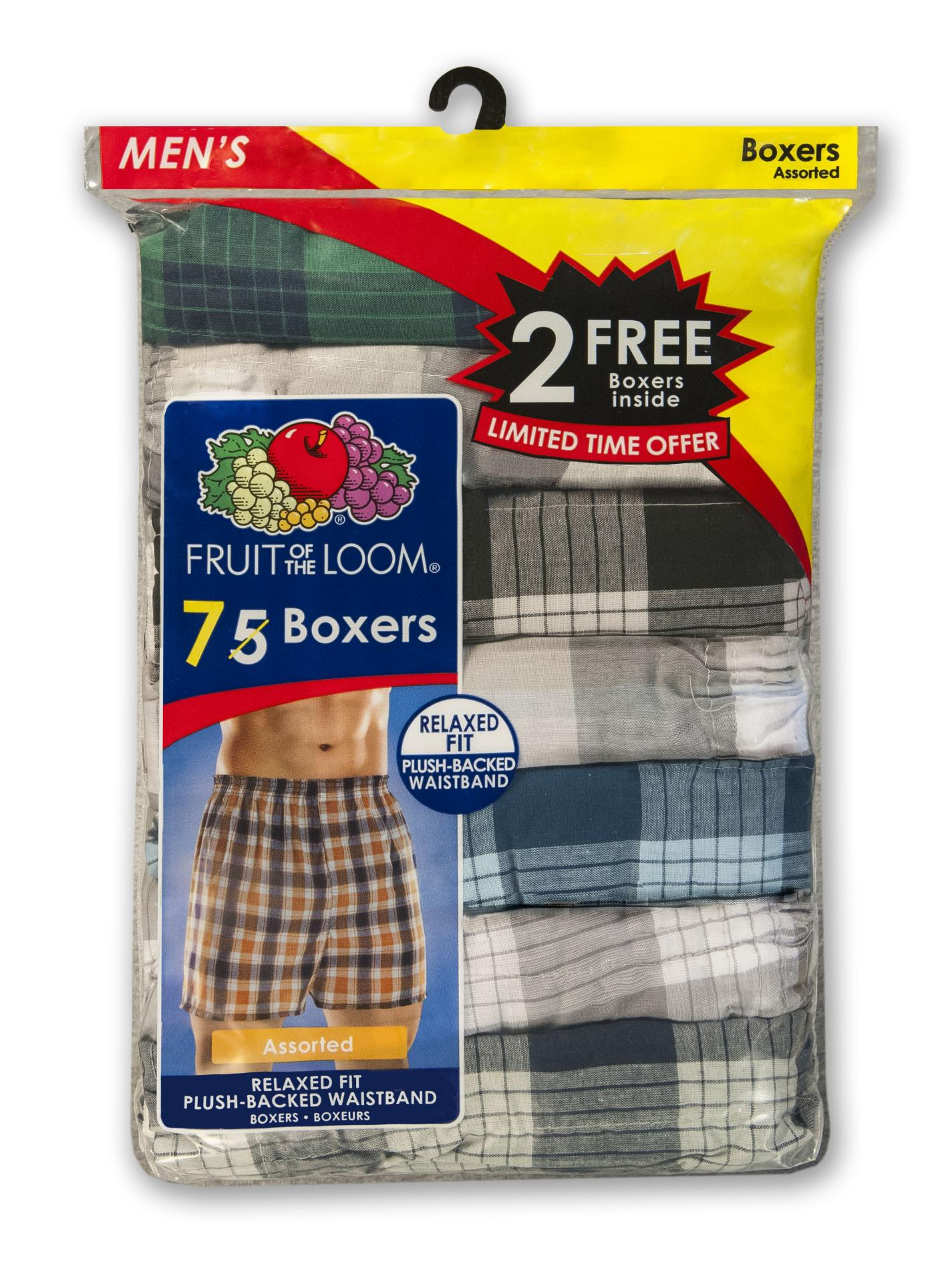 Fruit of the Loom Men's 7-Pack Boxers - Assorted