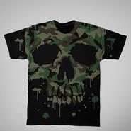 Men's Graphic T-Shirt - Camouflage Skull