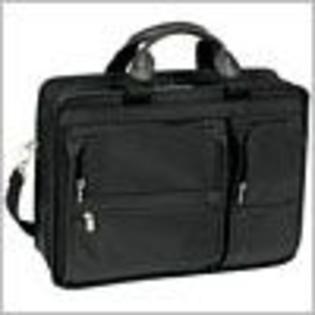 McKlein® McKlein® McKleinUSA HUBBARD 58435 Black Double Compartments Laptop Case