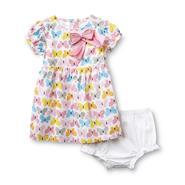 Little Wonders Newborn Girl's Dress & Diaper Cover - Butterflies at Sears.com