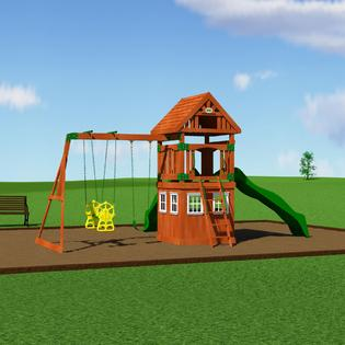 backyard discovery outing cedar swingset toys games outdoor play