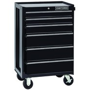 Craftsman 6-Drawer Heavy-Duty Ball-Bearing Rolling Cabinet - Black at Craftsman.com