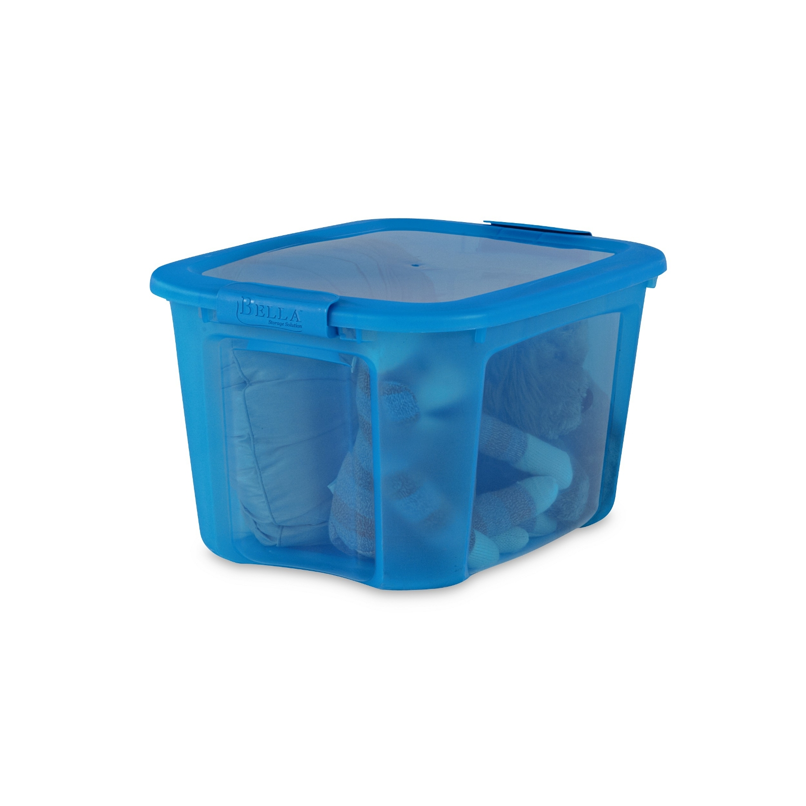 40-Quart Blue Locking Lid Storage Bin