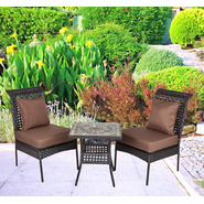 Patio Sense Zuni All Weather Wicker 3pc. Bistro Set at Kmart.com