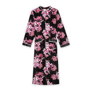 Jaclyn Smith Women's Zip-Front Velour Robe - Floral Print at Kmart.com